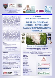Corso ricerca scientifica senza vivisezione|locandina