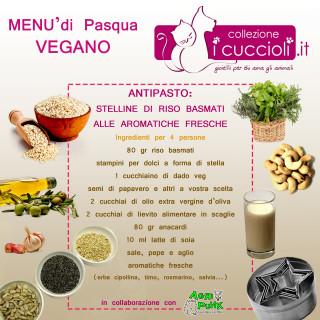 menù pasqua vegano