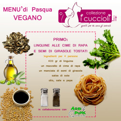 menù pasqua vegano primo
